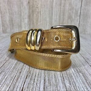 Vintage Accessories - Vintage Gold Mesh Metal Belt